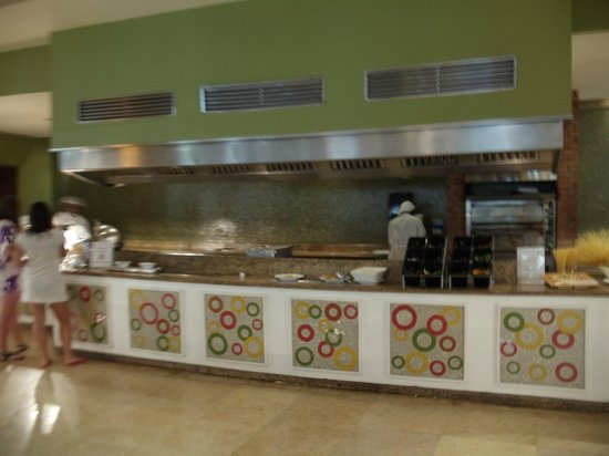 Now Larimar Punta Cana:                   Gill area in the buffet, cook your omlets and dinner steaks etc to the way you