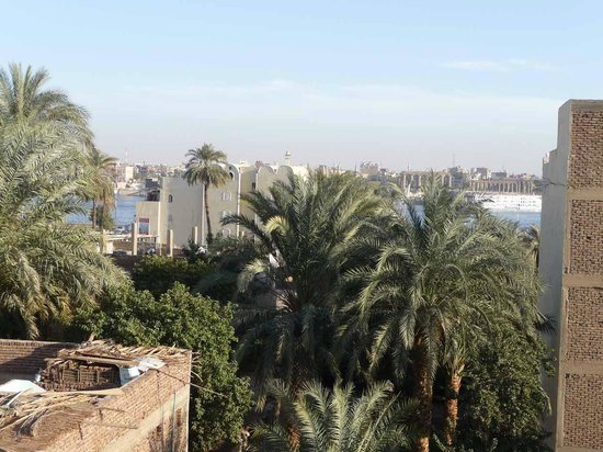 Hotel Sheherazade:                   View of the Nile from hotel roof