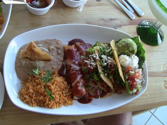 Bachas Restaurant:                   Mexican Combo Plate #1