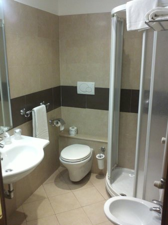 Crosti Hotel:                   Vista del baño