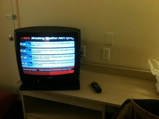 Motel 6 Kingman East:                   Small, old school tube TV but good picture quality.