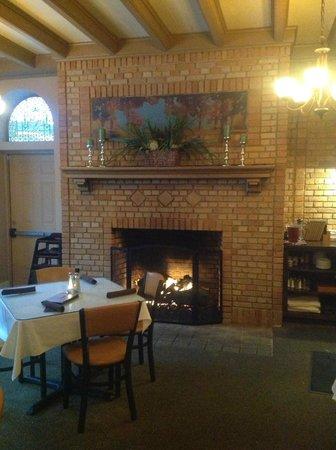 J. Corks: The cozy Fireplace
