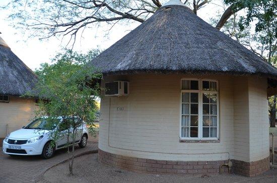 Satara Rest Camp: ...natürlich mit Klimaanlage