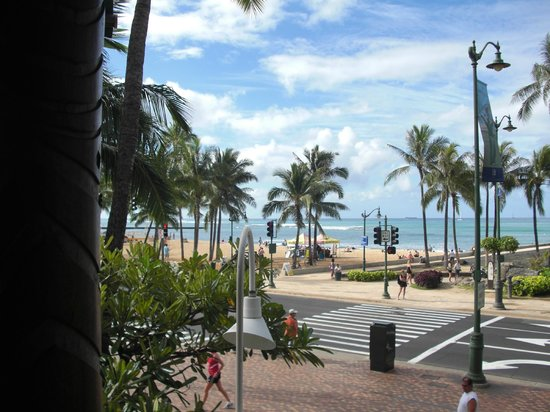 Hotel Renew:                   View of Waikiki Beach from porch of LuLu's Restaurant