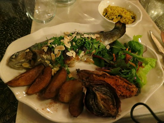 Beit Shalom Restaurant:                   River Dan trout and sweet potato