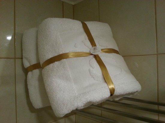Park Plaza:                   Detalhe para as toalhas