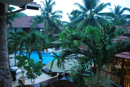 Le Duc de Praslin:                   View from the room, hotel pool