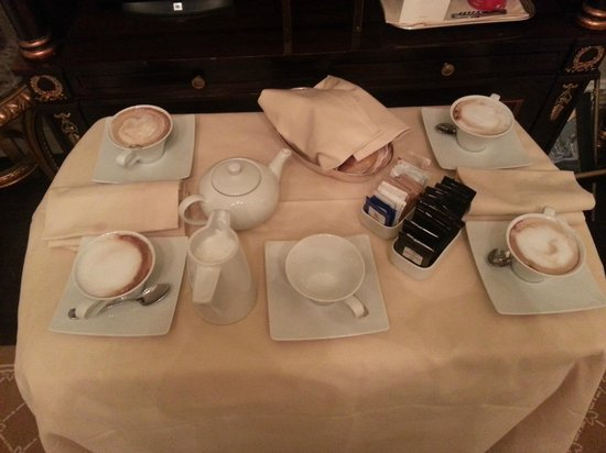 The St. Regis Rome:                   Morning Cappucino and pastries