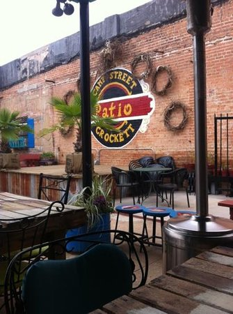 Camp street patio:                   yumm