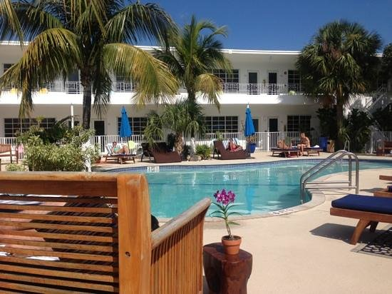 Tradewinds Apartment Hotel:                   pool side