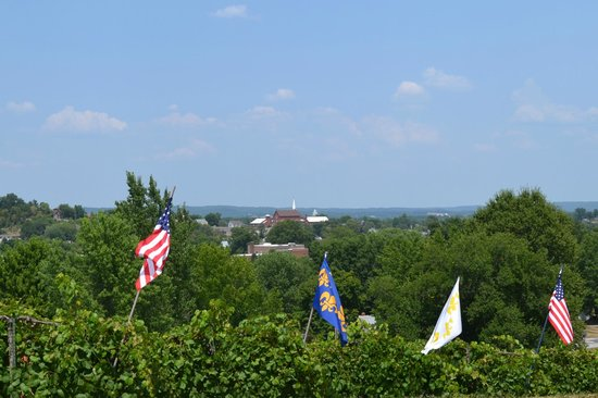 View of Hermann, MO from the Stone Hill Winery
