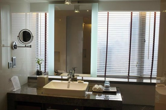 Crowne Plaza Guangzhou City Centre: Great Bathrooms with view