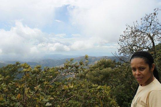 San Luis Waterfall:                   walking down hill