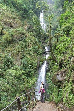 San Luis Waterfall:                   the falls