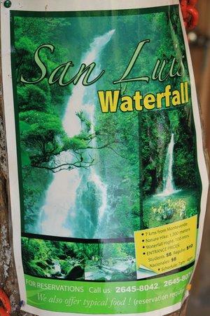 San Luis Waterfall:                   their poster