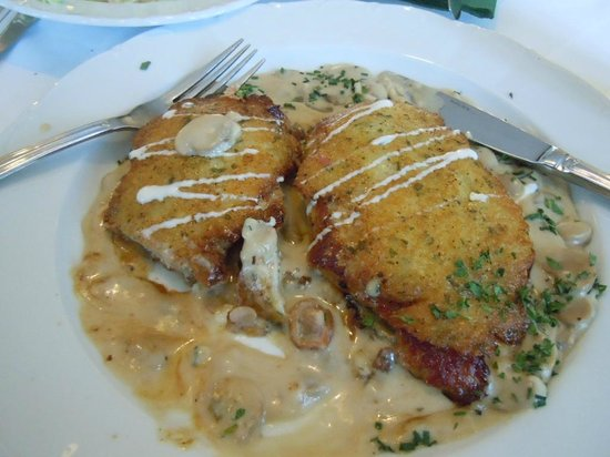 Hofbrauhaus-Keller: Pork with potatoes and mushrooms