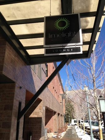 The Limelight Hotel Aspen:                                     Hotel Sign