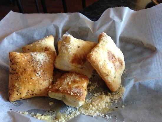 Calvino's Restaurant:                   free pizza pillow appetizer!