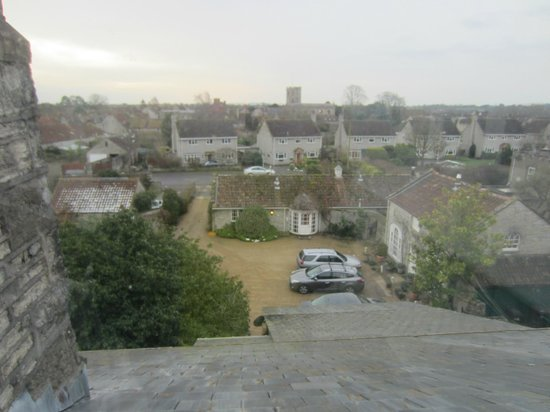 The Lynch Country House: View from glass observatory at top of building