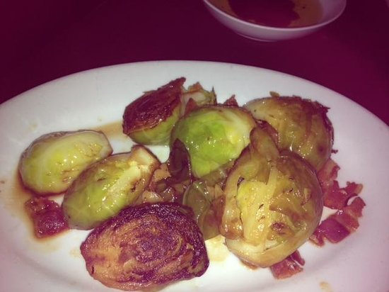 DeStefano's Steak House:                   brussel sprouts with pancetta