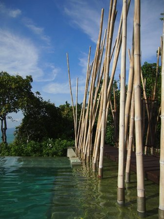 ‪‪Six Senses Samui‬: Bamboo by the main pool‬