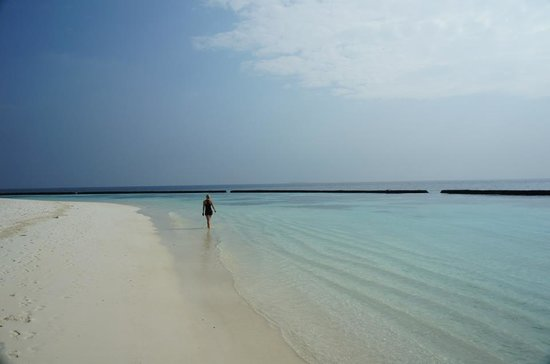 Baros Maldives:                   One of the bays on the island