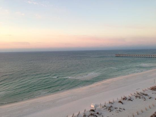 Hilton Pensacola Beach:                   view from the balcony