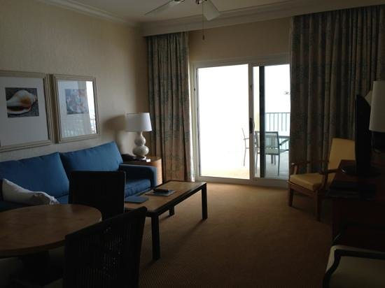 Hilton Pensacola Beach:                   sitting room in suite