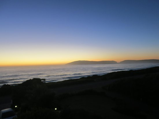 The Robberg Beach Lodge:                   View from our room at dawn