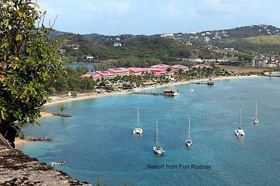 Sandals Grande St. Lucian Spa & Beach Resort:                   Resort from Fort Rodney