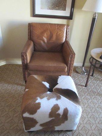 Omni Austin Hotel Downtown:                   Cowhide ottoman