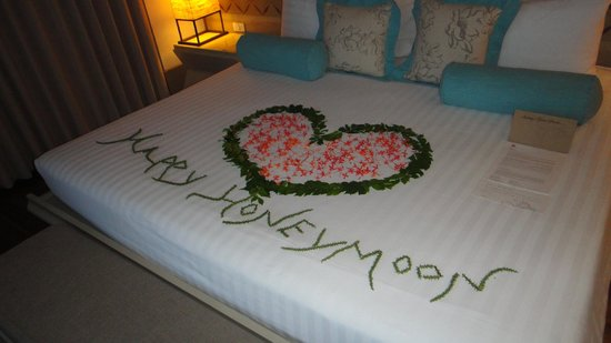 Melati Beach Resort & Spa:                   Lovely room decoration!