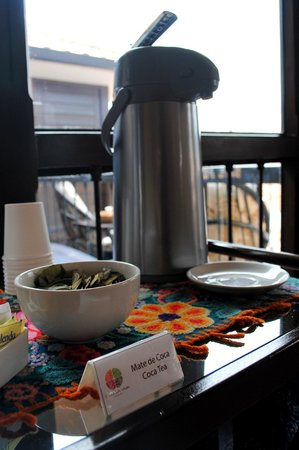 Tierra Viva Cusco Plaza:                   Coca tea available all day