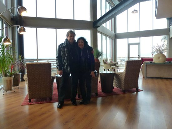 Cannery Pier Hotel:                   In the lobby