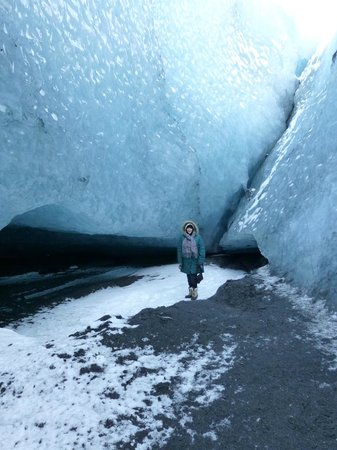 Gateway to Iceland:                   Inside the glacier