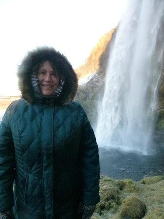 Gateway to Iceland:                   It was too slippery to go behind the falls, but love just to get close and loo