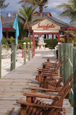 Sandals Royal Bahamian Spa Resort & Offshore Island: From dock at Sandals Cay