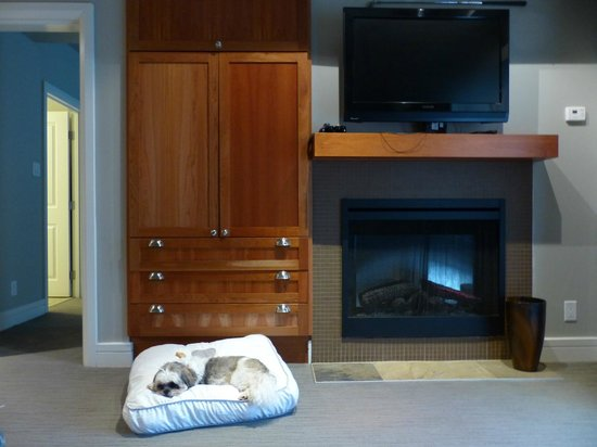 Westin Bear Mountain Victoria Golf Resort & Spa:                   Electric fireplace/TV
