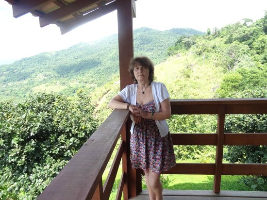Resort Croce del Sud :                   The balcony overlooking Paraty Bay and the Mata (jungle)