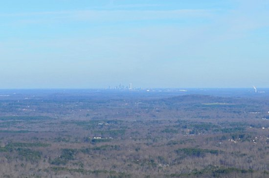 Crowders Mountain State Park: Charlotte Skyline from King's Pinnacle