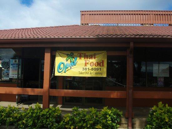 Opal Thai:                                     Signage