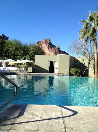 Sanctuary Camelback Mountain:                   View from my lounge chair