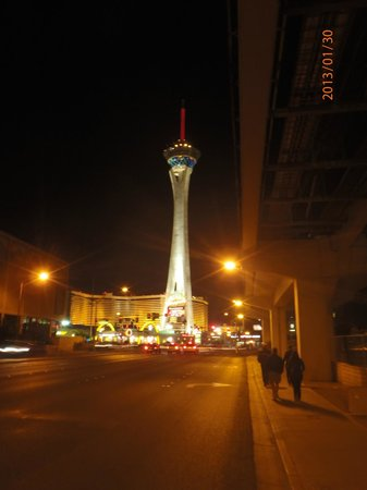 Stratosphere Hotel, Casino and Tower:                   front of the hotel view from the street