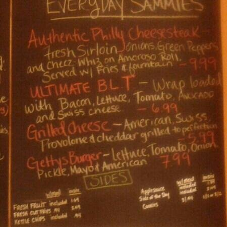 Tipton's Grill:                   everyday lunch menu