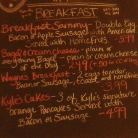 Tipton's Grill:                                     everyday breakfat menu