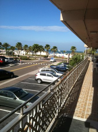 Beachwalk Inn:                   View from the room