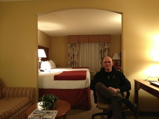 Holiday Inn Express Bloomington:                   I like the room design... Separated bed - and living room.