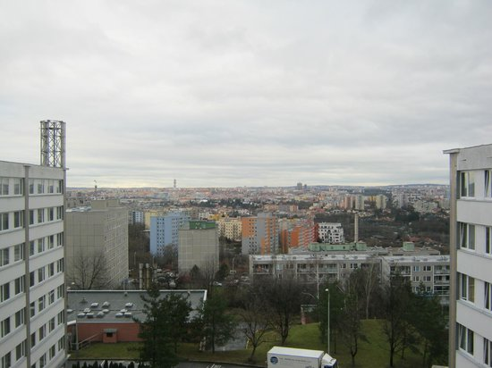 TOP HOTEL Praha : view from the window