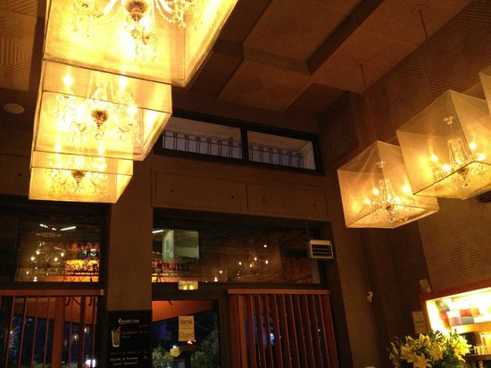 Amaia Restaurant:                   loved the lights on the ceiling