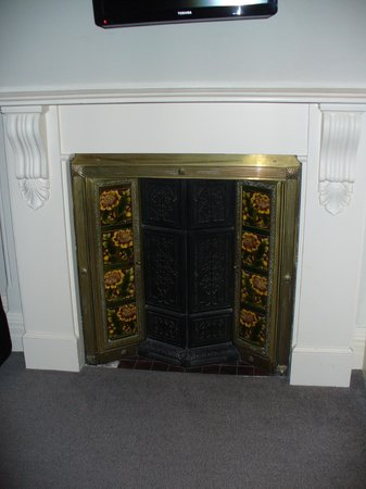 The Old Bell Hotel: Beautiful fireplace in our room